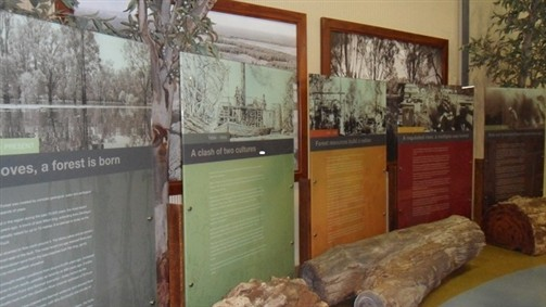 Timeline at the Barmah Forest Heritage and Education Centre