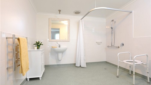 An accessible bathroom is available if required