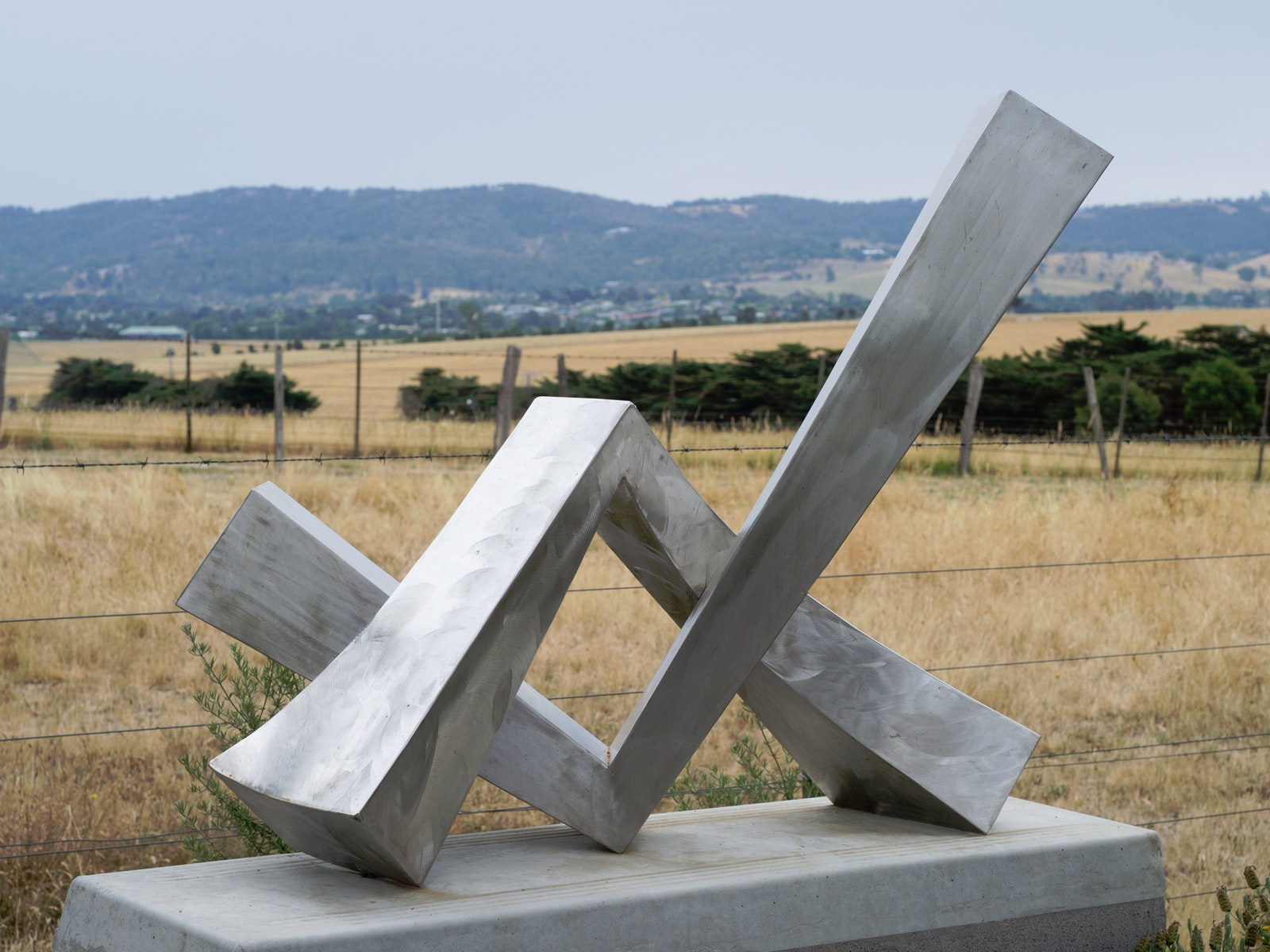 Stainless steel sculpture by Ernst Fries