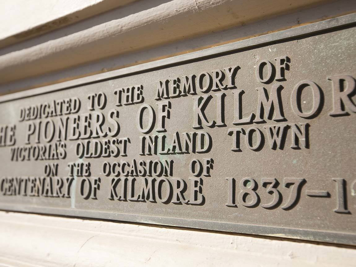Kilmore Town Hall detail, Daylesford and the Macedon Ranges, Victoria, Australia
