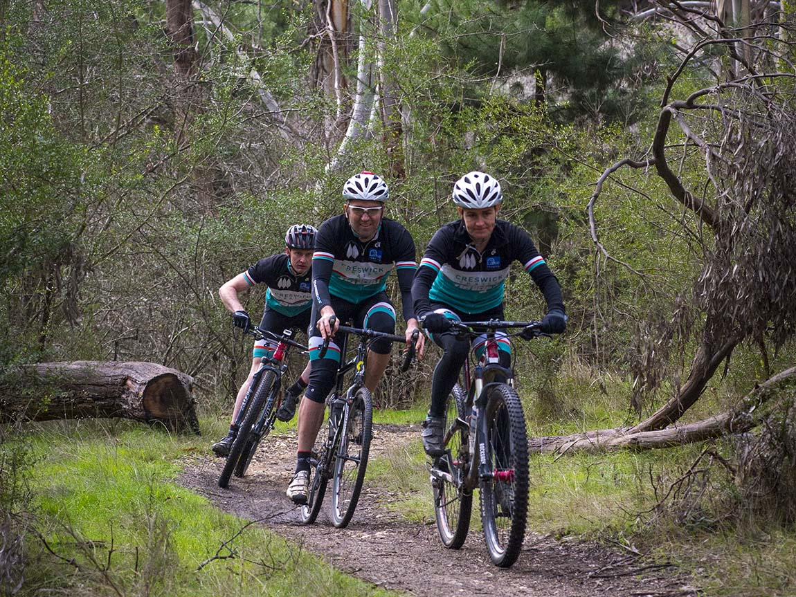 Riding the Goldfields Track in Creswick, Daylesford and Macedon Ranges, Victoria, Australia