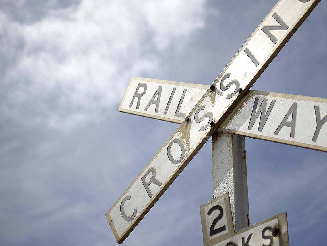 Queenscliff railway sign, Geelong and the Bellarine, Victoria, Australia