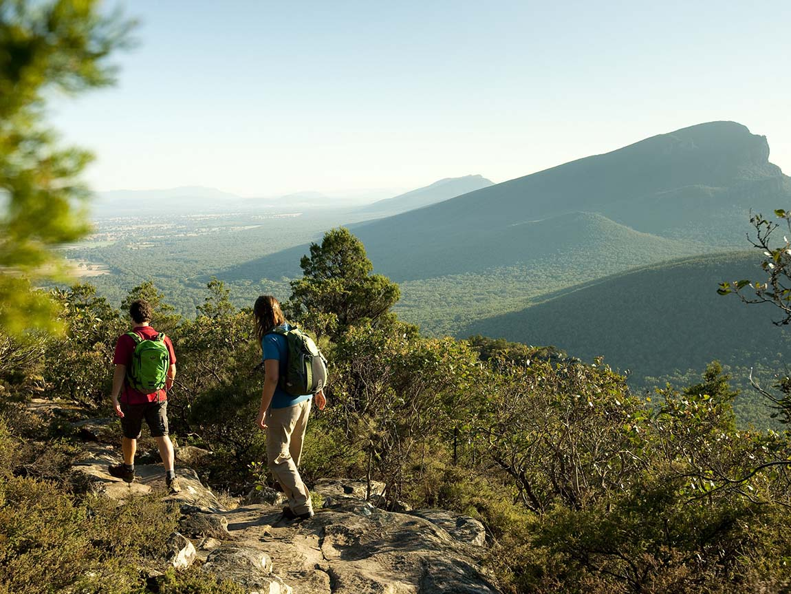 Hiking at Mount Sturgeon, Grampians, Victoria, Australia
