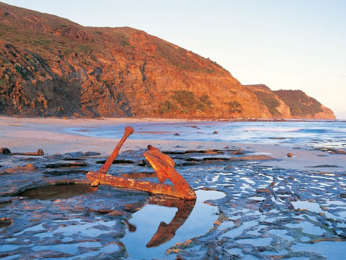 Anchor on Wreck Beach, Great Ocean Road, Victoria, Australia