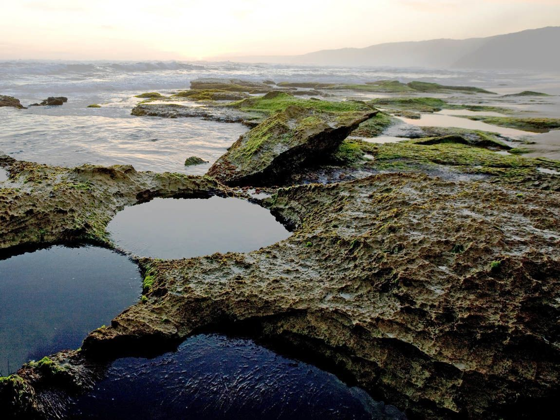 Johanna Beach rock pools, Great Ocean Road, Victoria, Australia