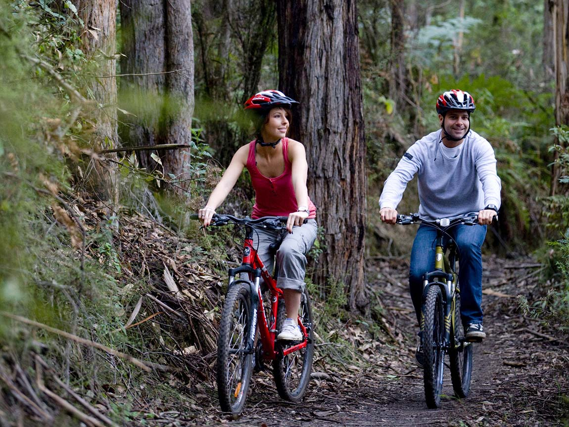 Bike riding in Forrest, Great Ocean Road, Victoria, Australia