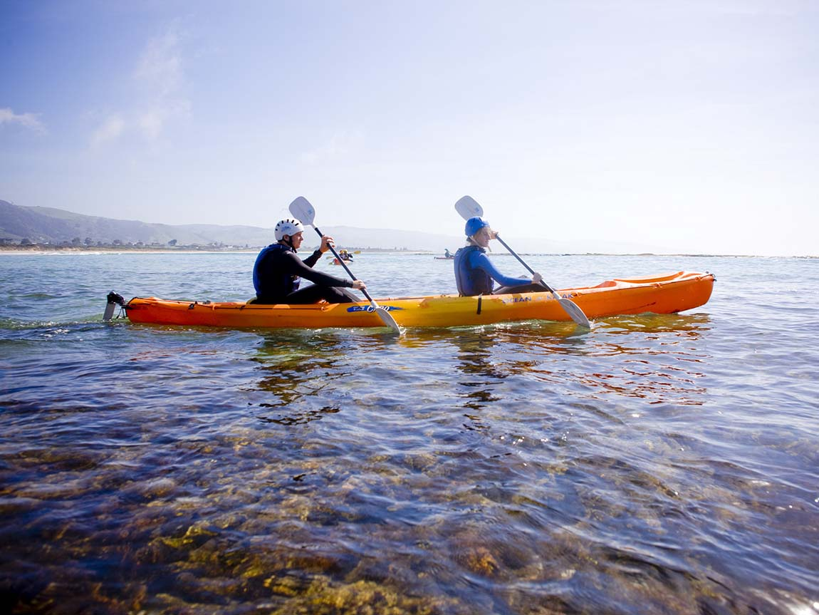 Kayaking at Marengos Reefs Marine Sanctuary, Great Ocean Road, Victoria, Australia