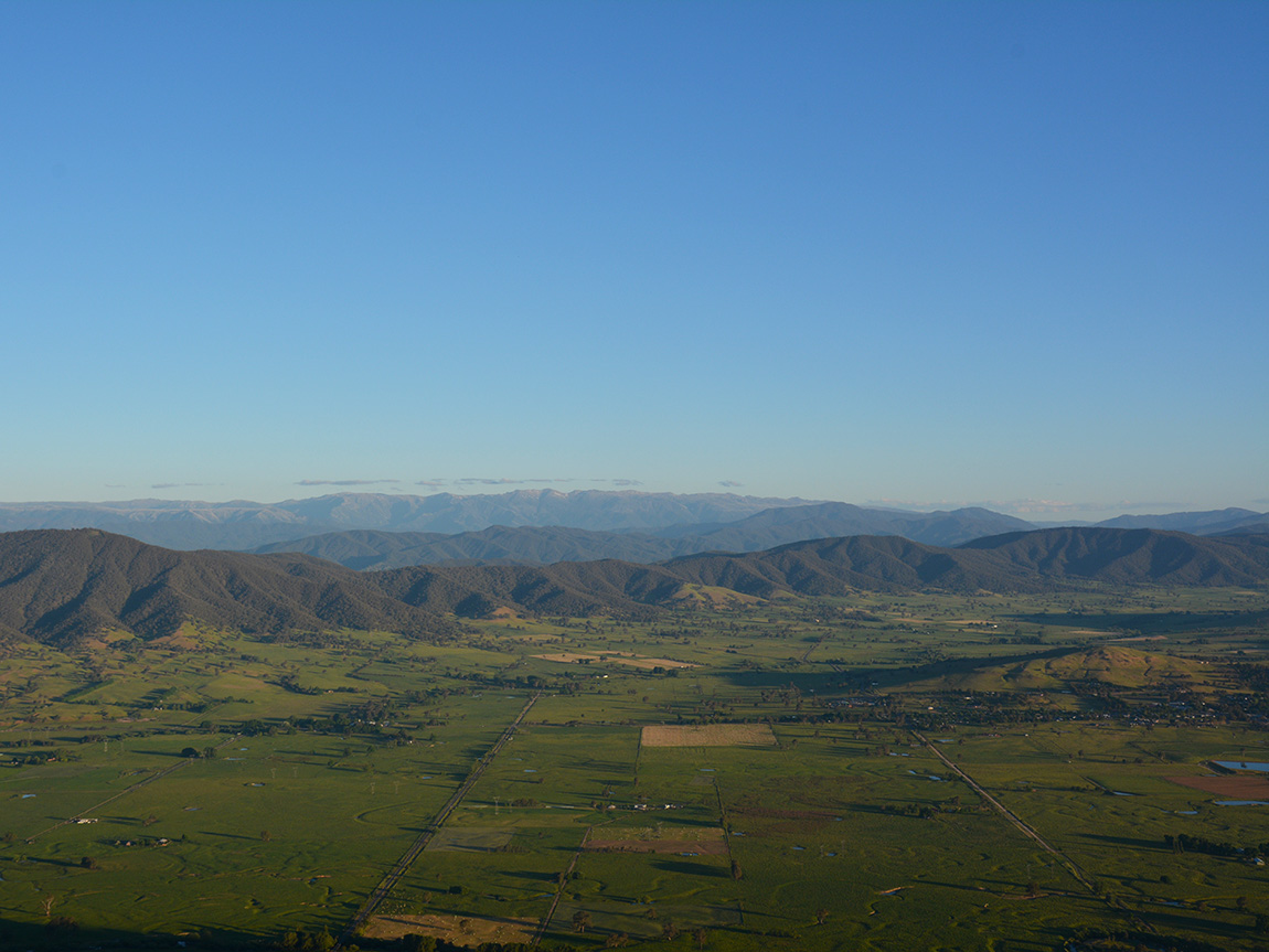 Corryong from Mount Mitta Mitta, High Country, Victoria, Australia