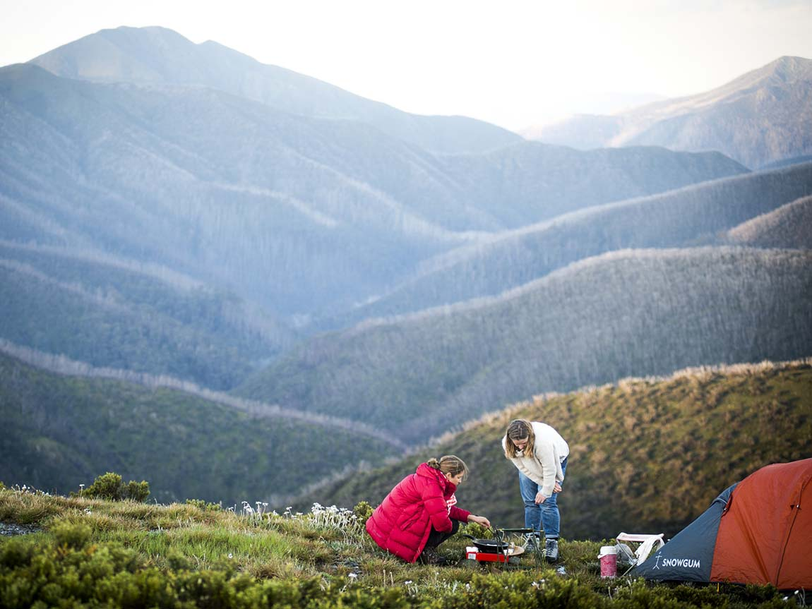 Camping at Mount Feathertop, High Country, Victoria, Australia