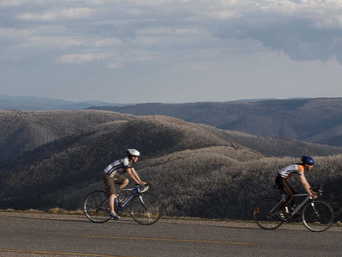 Cycling at Mount Hotham, High Country, Victoria, Australia