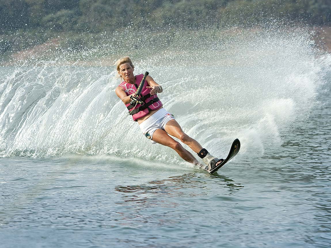 Waterskiing at Lake Eildon, High Country, Victoria, Australia