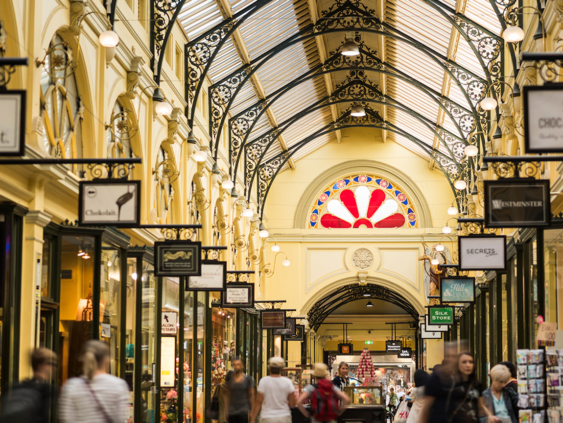 Royal Arcade, Melbourne, Victoria, Australia. Photo: Robert Blackburn