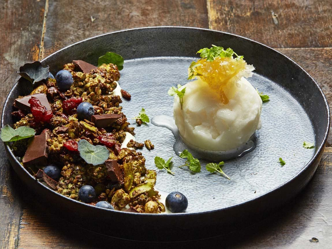 127 Brunswick breakfast greet tea granola, Fitzroy, Victoria, Australia. Photo: Ren Pidgeon