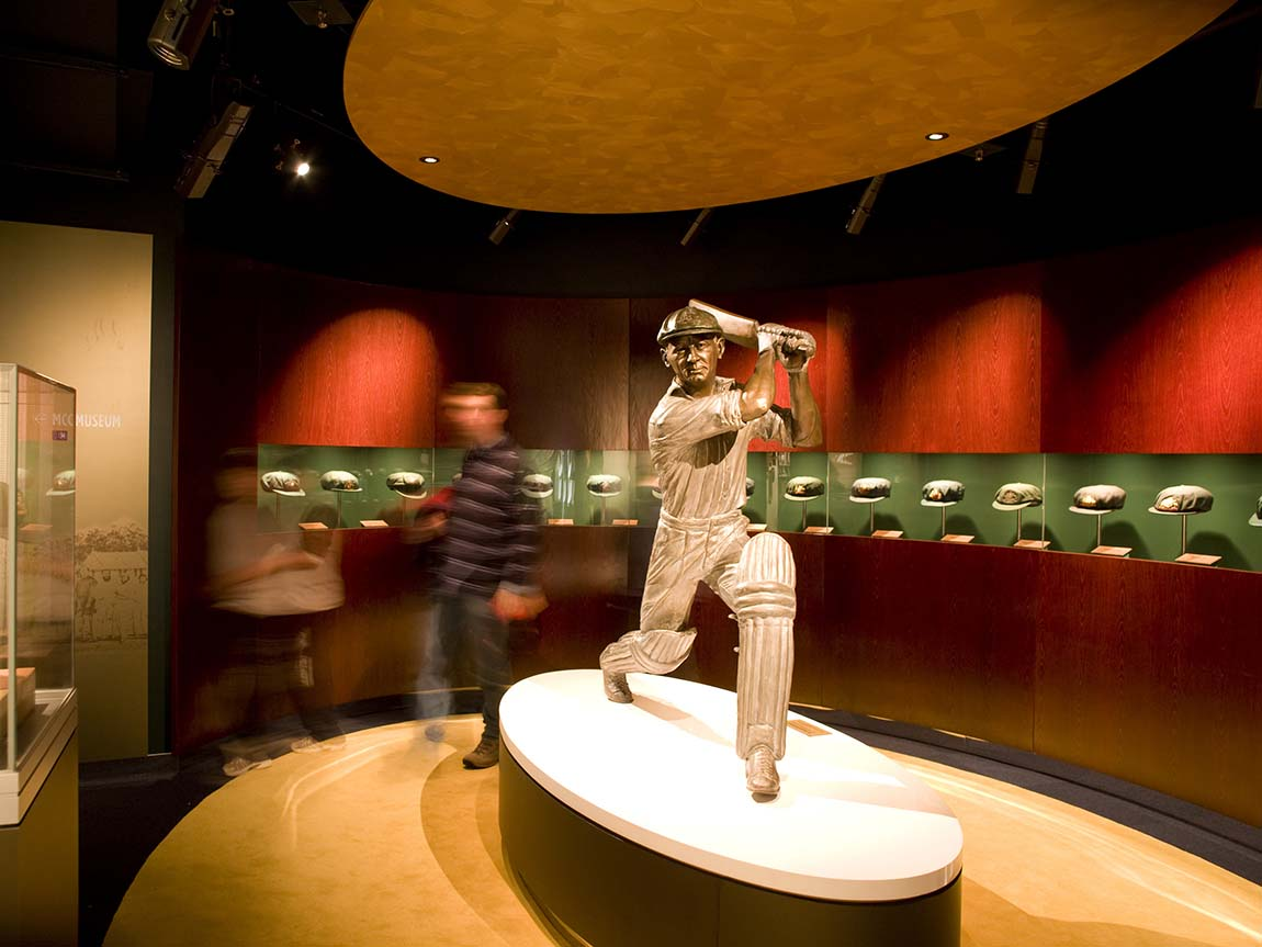 Don Bradman display at the National Sports Museum, MCG, Melbourne, Victoria, Australia