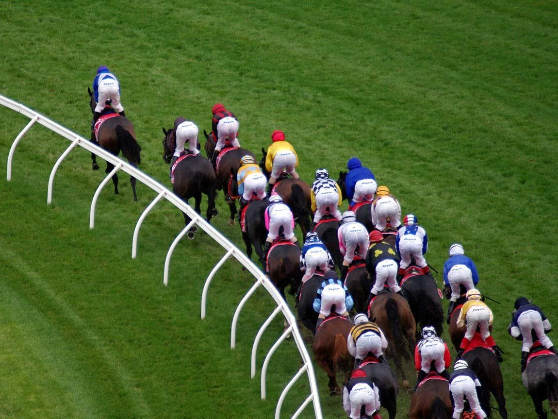 Horse racing at Flemington Racecourse, Melbourne Victoria, Australia