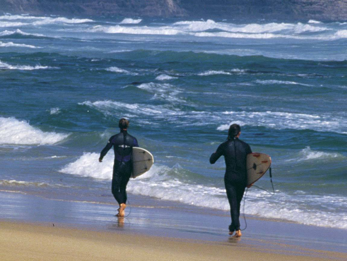 Surfers at Sorrento, Mornington Peninsula, Victoria, Australia