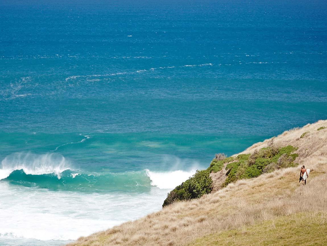 Surfer At Bushranger Bay Mornington Peninsula Victoria Australia