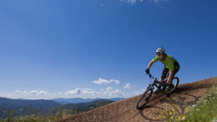 Mountain biking at Mount Buller, High Country, Victoria, Australia
