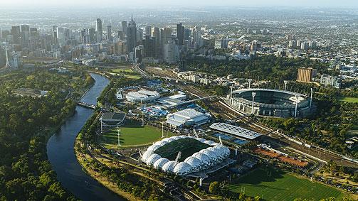 sports precinct melbourne victoria australia photo roberto seba