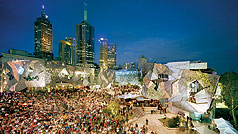Federation Square, Melbourne, Victoria, Australia. Photo: John Gollings.