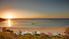 Bathing boxes at Mount Martha, Mornington Peninsula, Victoria, Australia