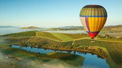 Hot air ballooning, Yarra Valley, Victoria, Australia