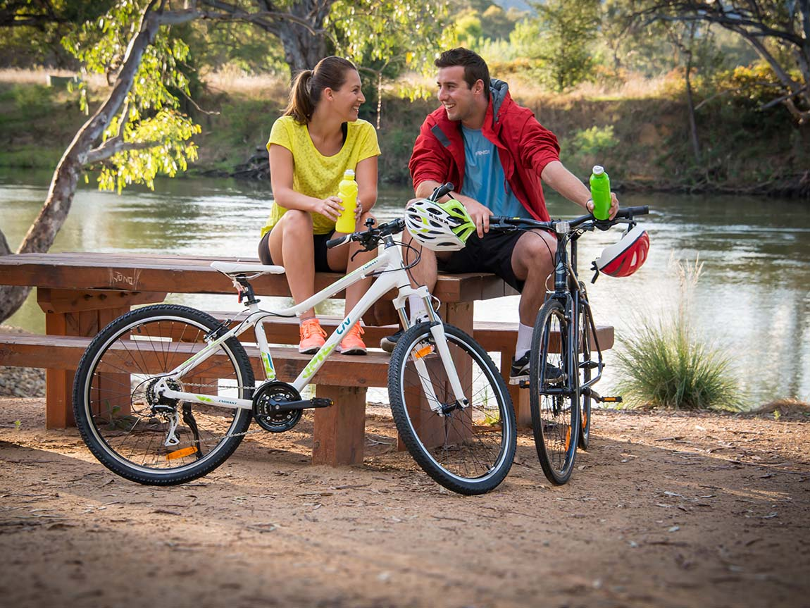 Cycling, The Murray, Victoria, Australia