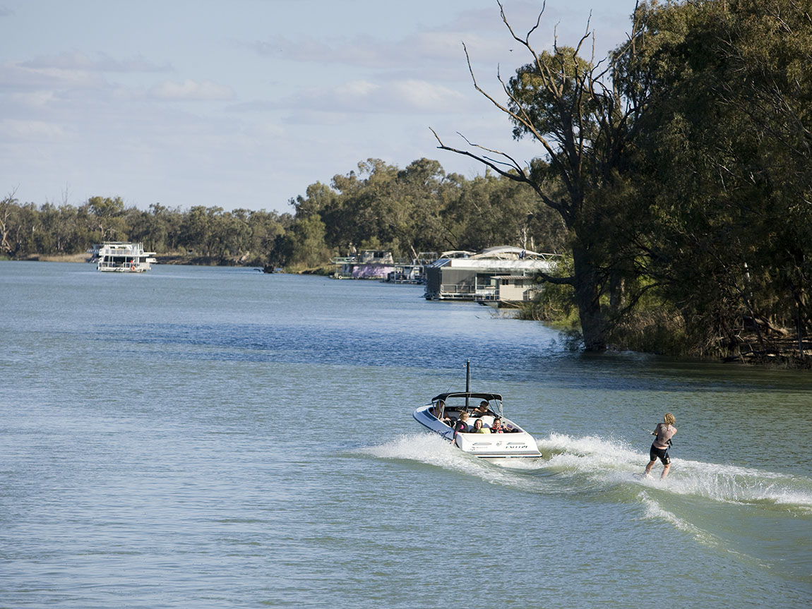 Waterskiing, The Murray, Victoria, Australia