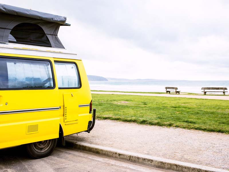 Campervan on the Great Ocean Road - Broadsheet