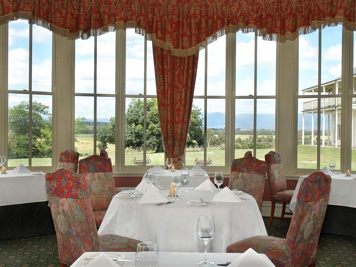 Eleonore's Restaurant at Chateau Yering, Yarra Valley and Dandenong Ranges, Victoria, Australia