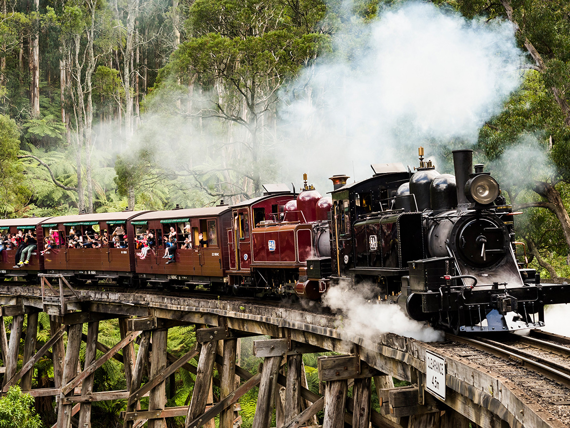 Puffing Billy, Yarra Valley and Dandenong Ranges, Victoria, Australia. Photo: Robert Blackburn